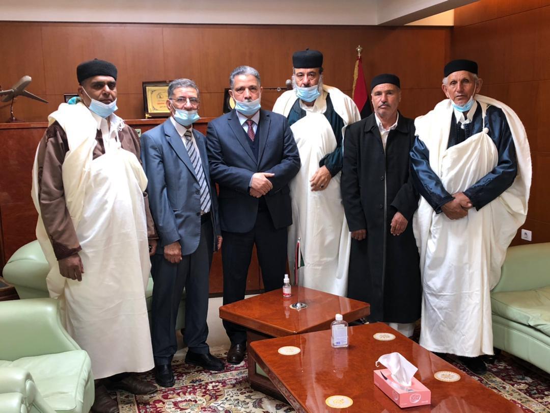 إستقبال معالي الوزير … حكماء و أعيان منطقة قماطة الجبل الغربي